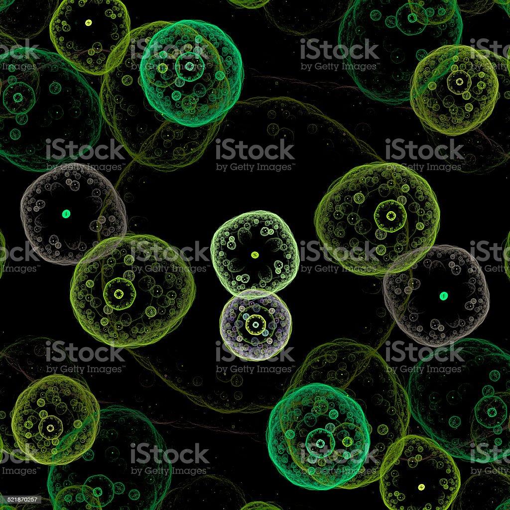 Symmetrical growth of bacteria stock photo