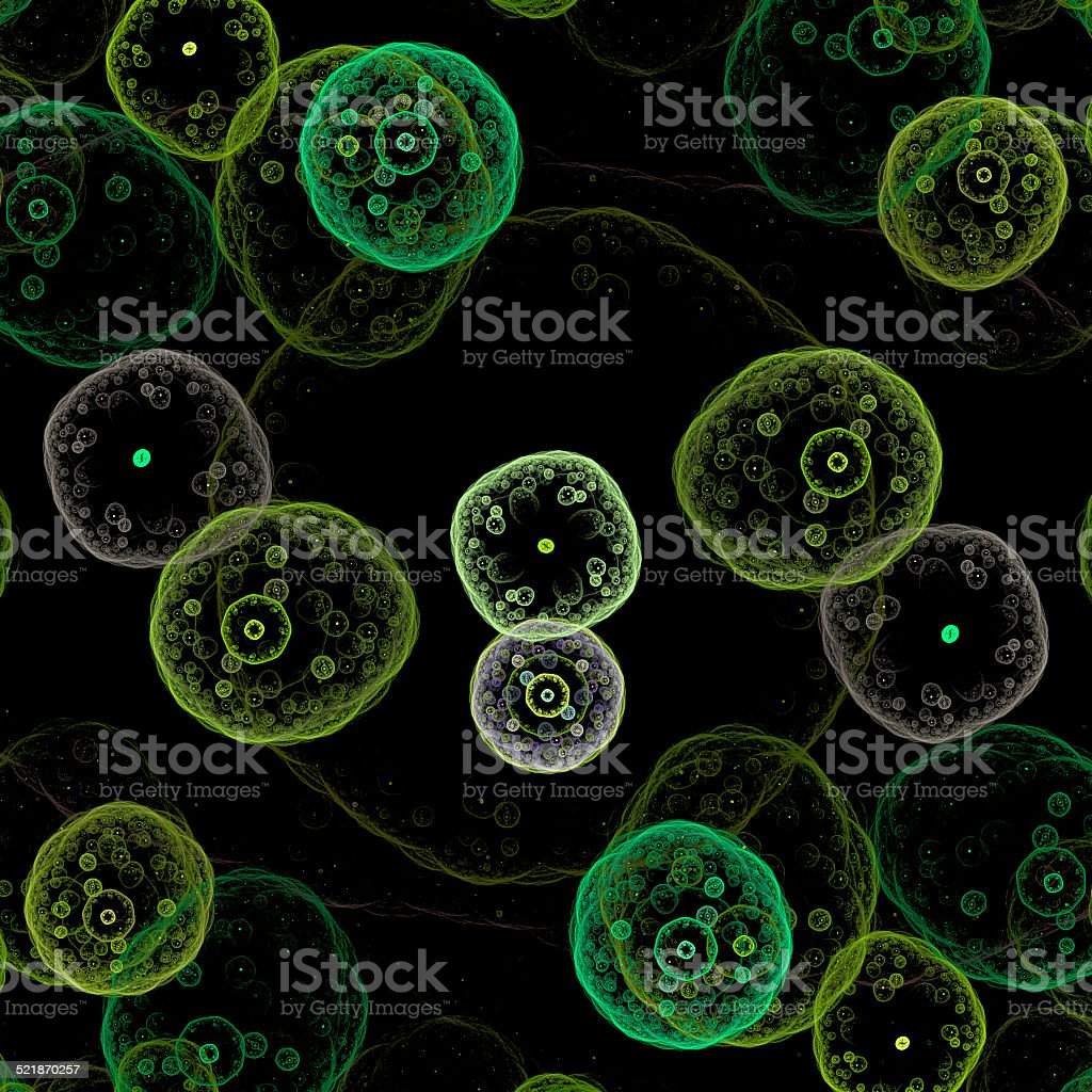 Symmetrical growth of bacteria stock photo