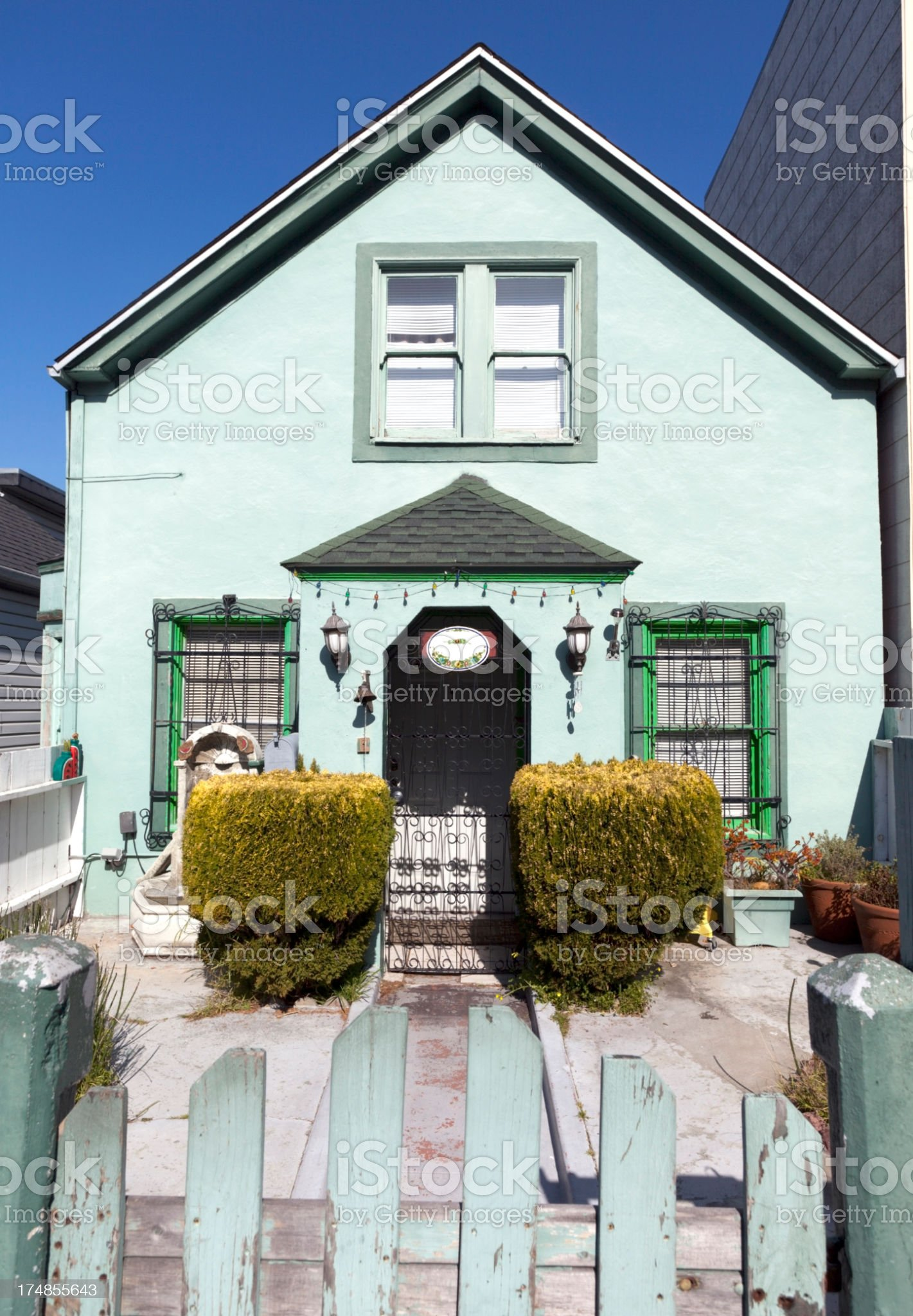 Symmetrical Home royalty-free stock photo