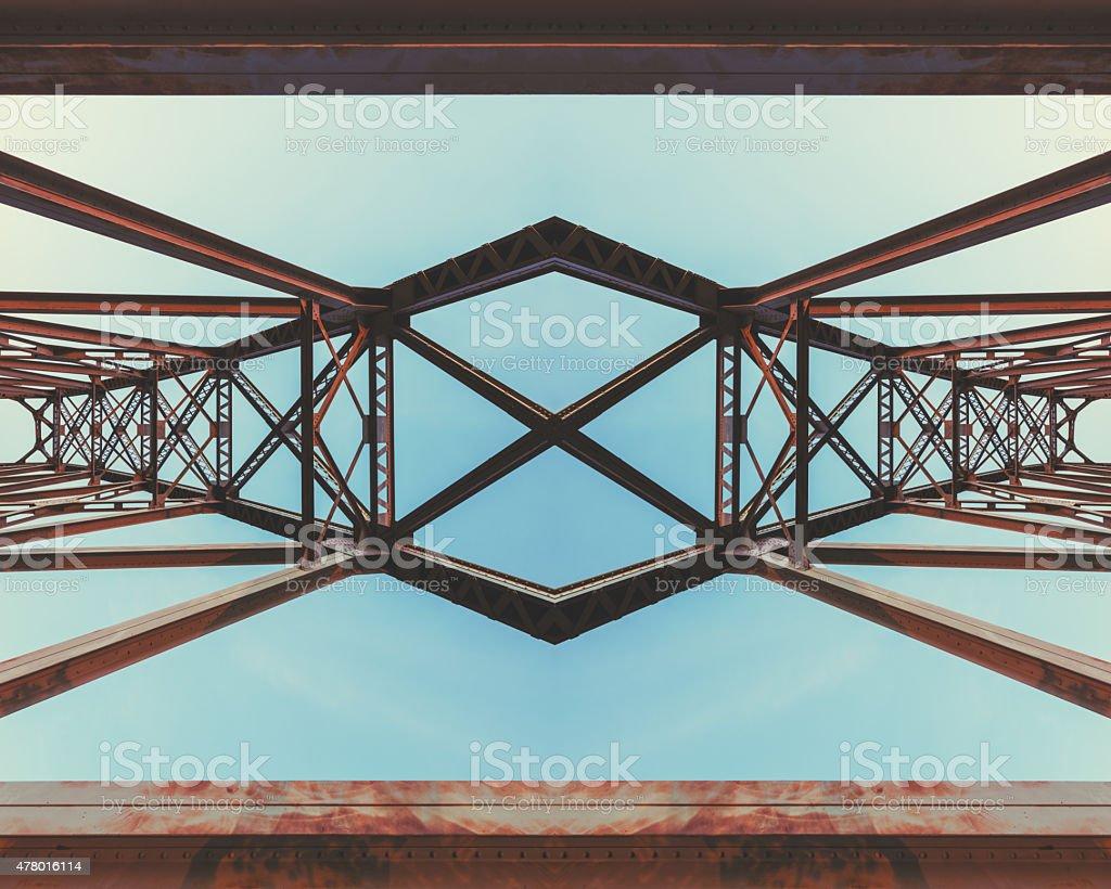 Symmetrical Railway Bridge stock photo