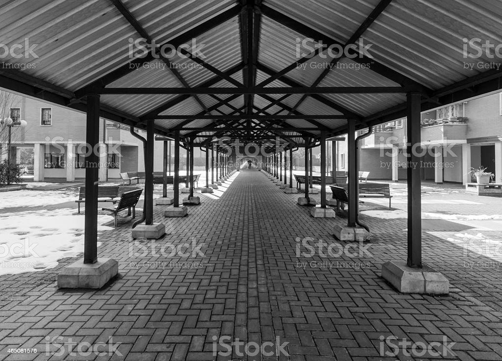 Symmetrical Tunnel royalty-free stock photo