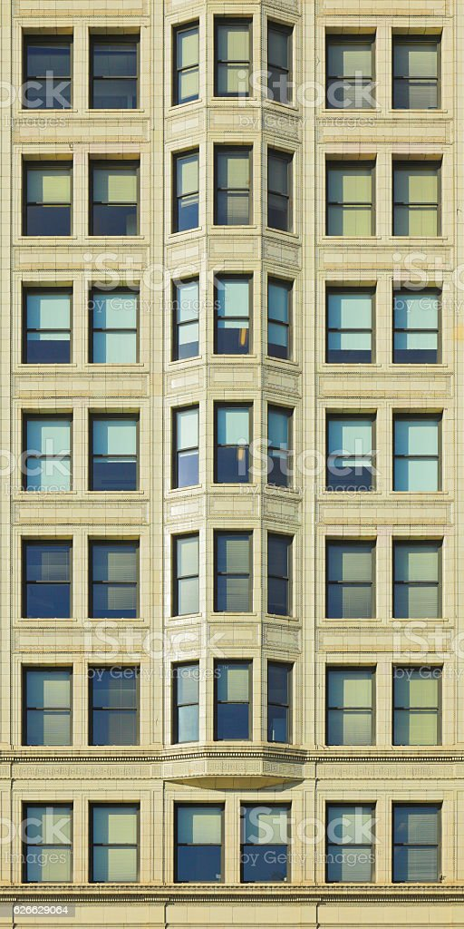 Symmetrical Windows - Chicago stock photo