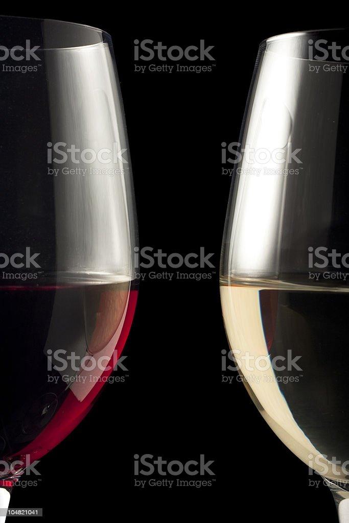Symmetrical Wine Glasses stock photo