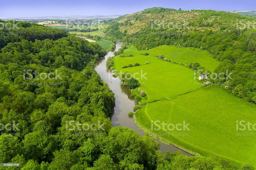 symonds yat valley of the river wye herefordshire uk stock photo