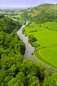 symonds yat valley of the river wye herefordshire uk