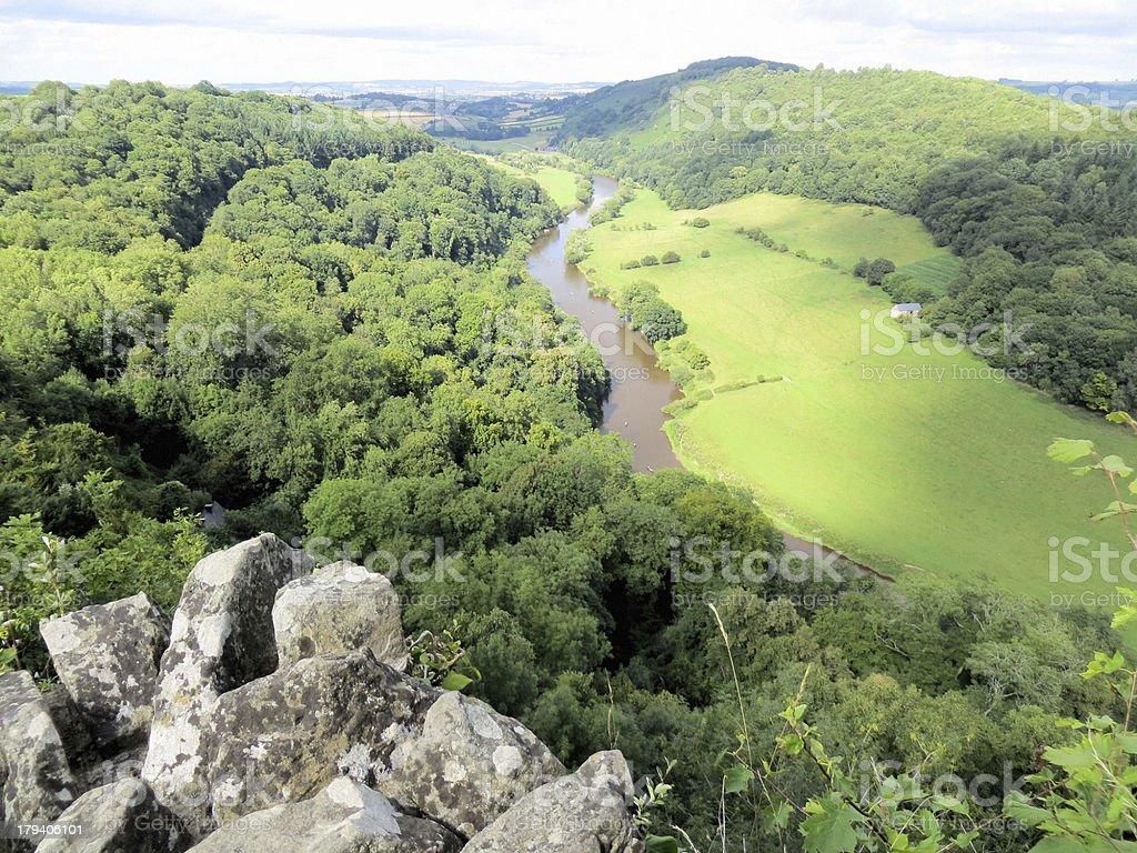 Symonds Yat viewpoint stock photo