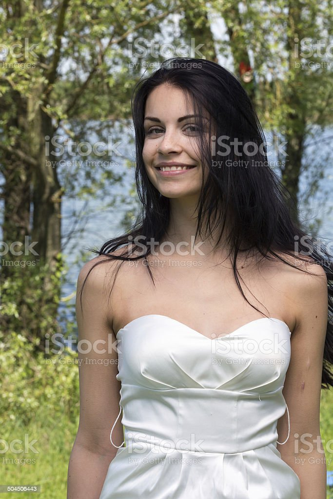 Symphatische junge Frau stock photo