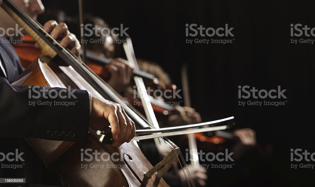 Symphony concert stock photo