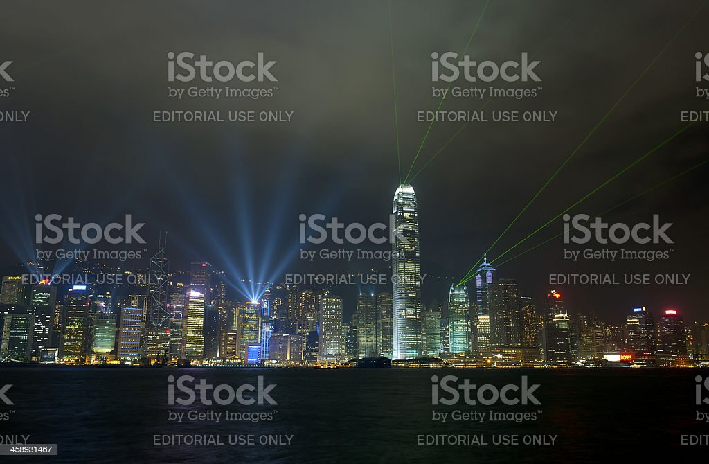 Symphony of Light in Hong Kong China Asia royalty-free stock photo