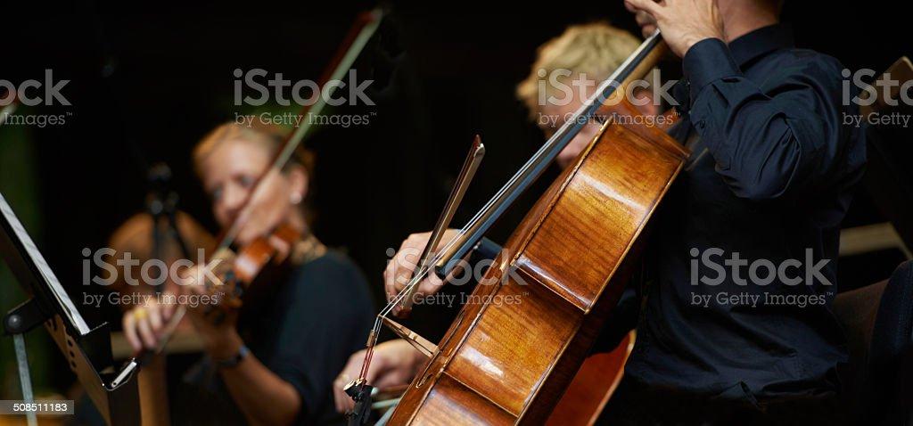 Symphony sounds stock photo