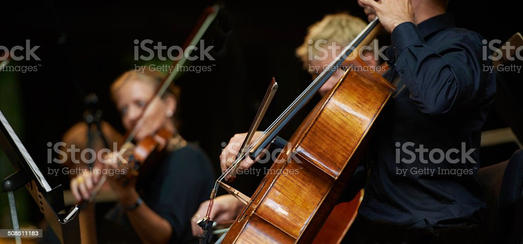 Symphony sounds stock photo