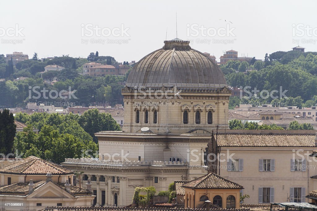 Synagogue and the Jewish ghetto at Rome, Italy royalty-free stock photo