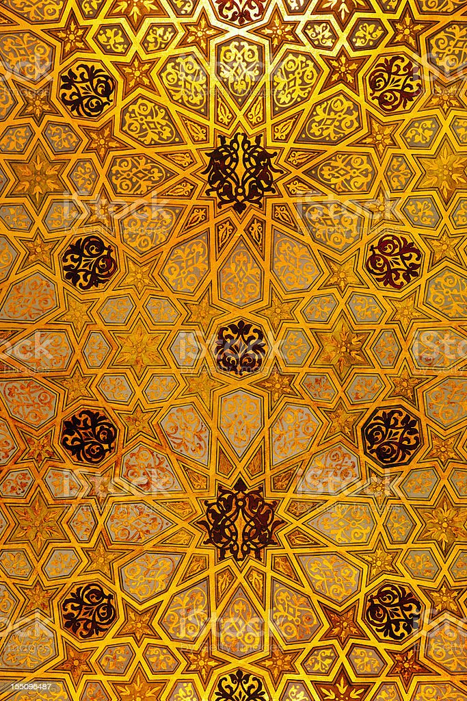 Synagogue ceiling detail stock photo