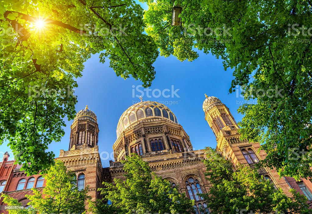 Synagogue in Berlin, Germany stock photo