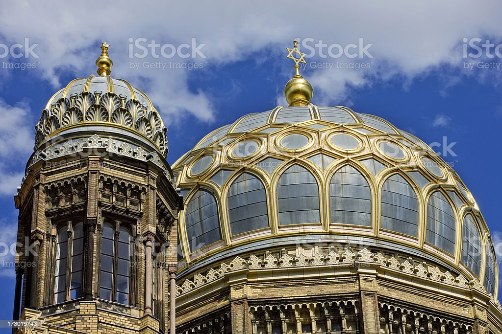 Synagogue in Berlin royalty-free stock photo