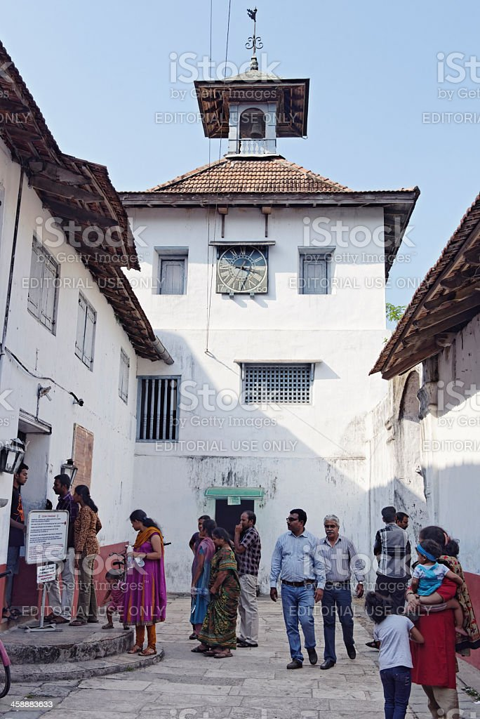 Synagogue in Cochin royalty-free stock photo