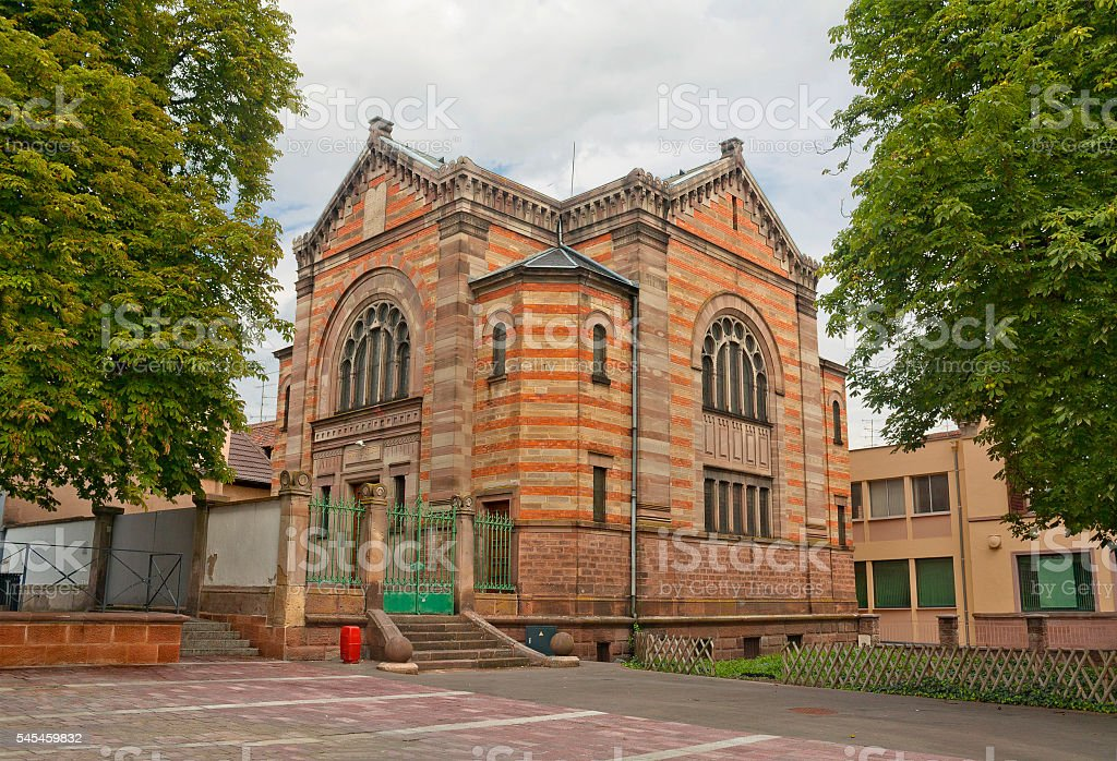 Synagogue in Selestat, France stock photo