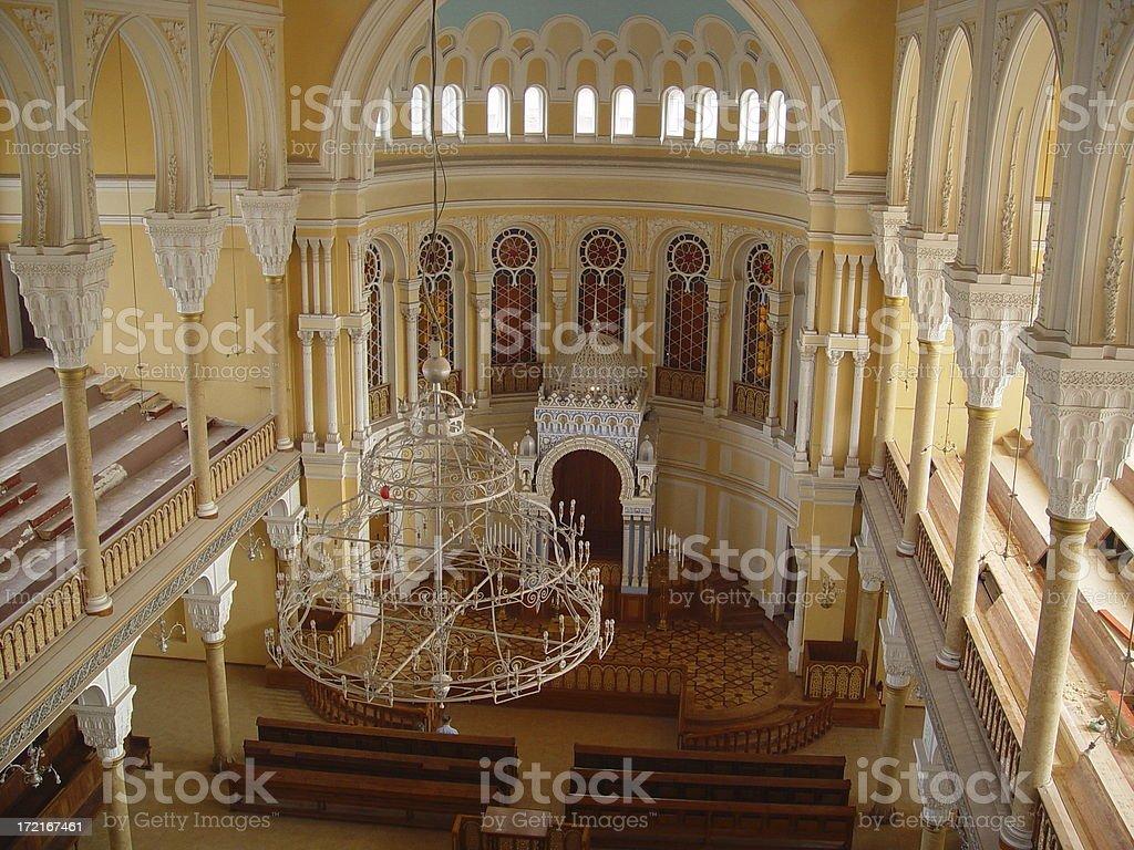 Synagogue Interior stock photo
