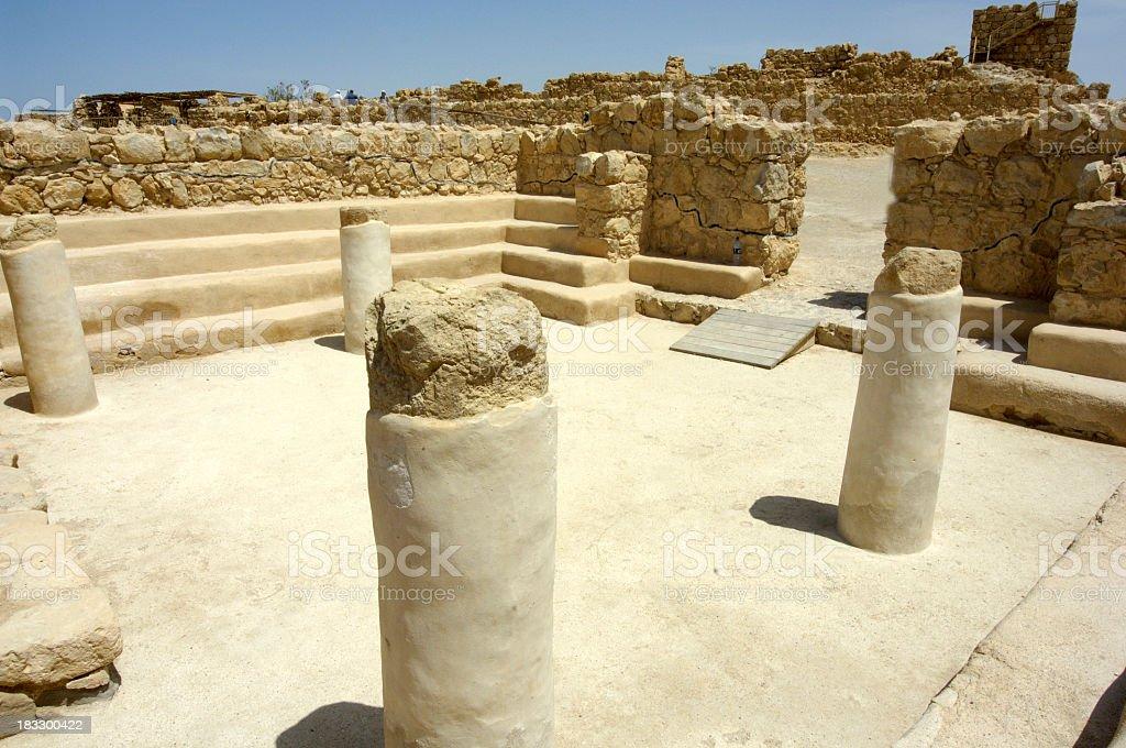 Synagogue of Masada Israel stock photo