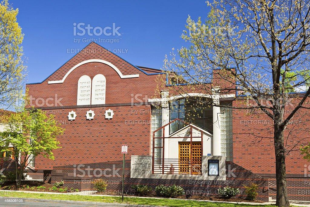Synagogue on Wisconsin Ave, Washington DC royalty-free stock photo