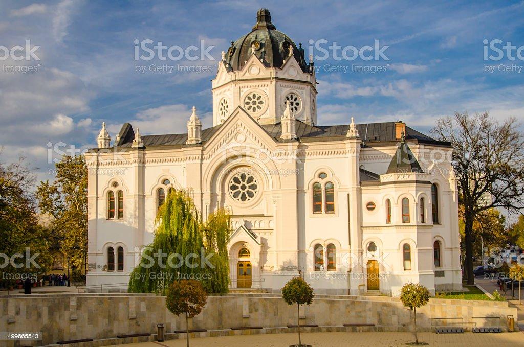 Synagogue, Szolnok, Hungary stock photo