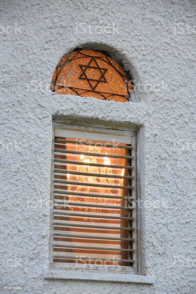 Synagogue Window stock photo