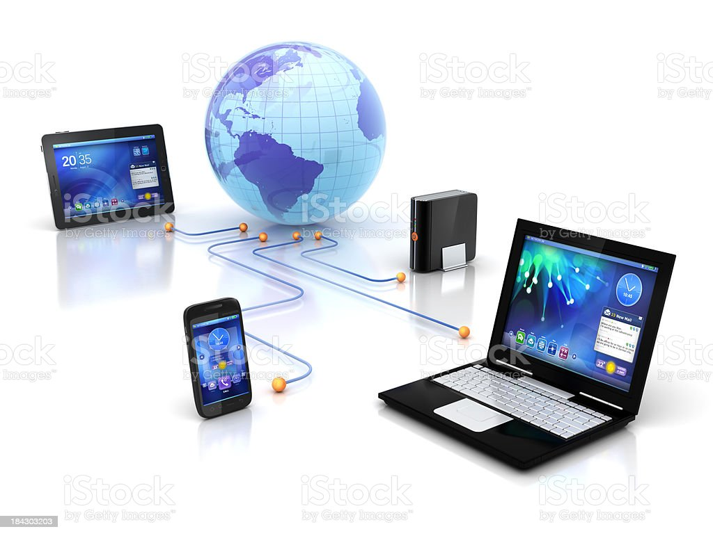 Sync or Connect Devices royalty-free stock photo
