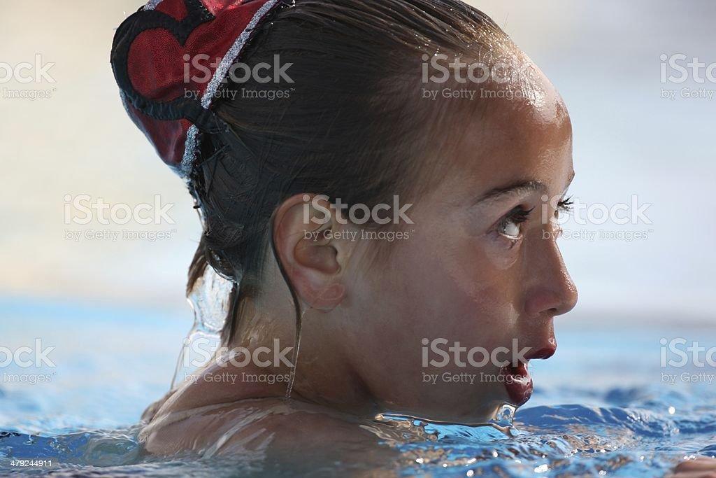 Synchonized nuoto espressione foto stock royalty-free