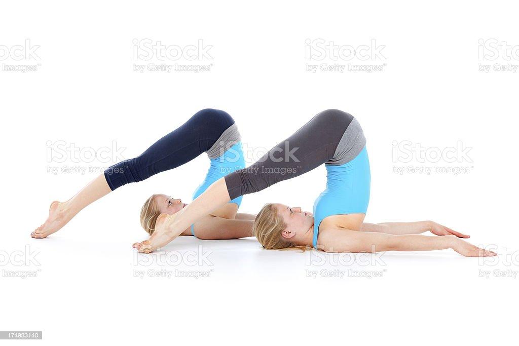synchronal  floor exercises royalty-free stock photo