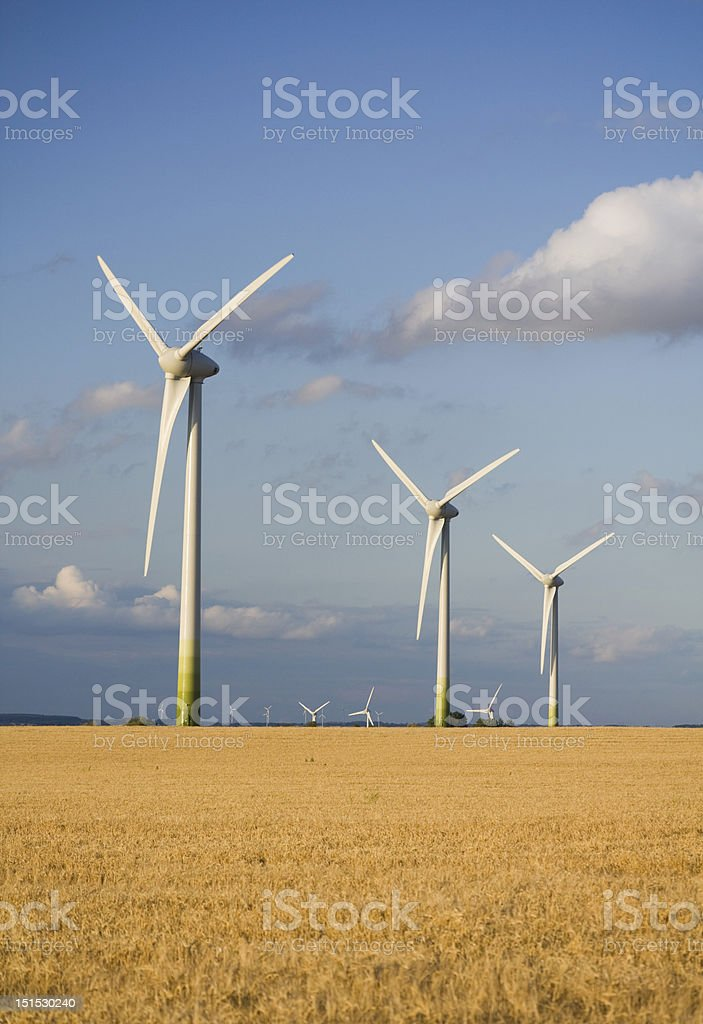 Synchronized clean energy production royalty-free stock photo