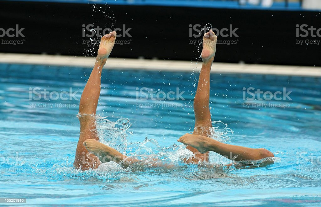 Synchronized Swimmers stock photo