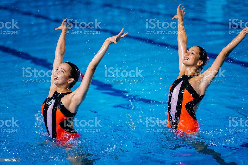 Synchronized Swimming stock photo