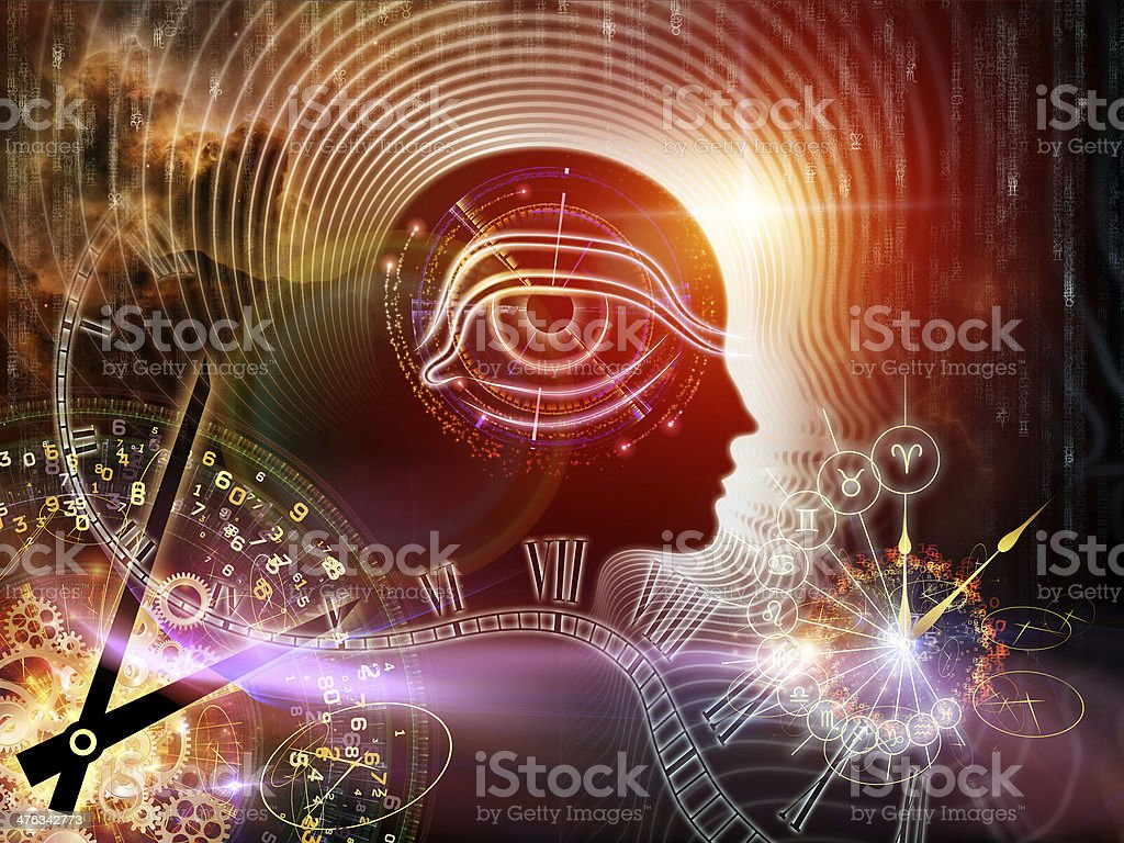 Synergies of Human Mind vector art illustration