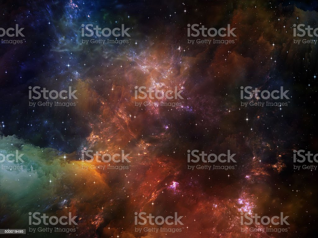 Synergies of Space stock photo