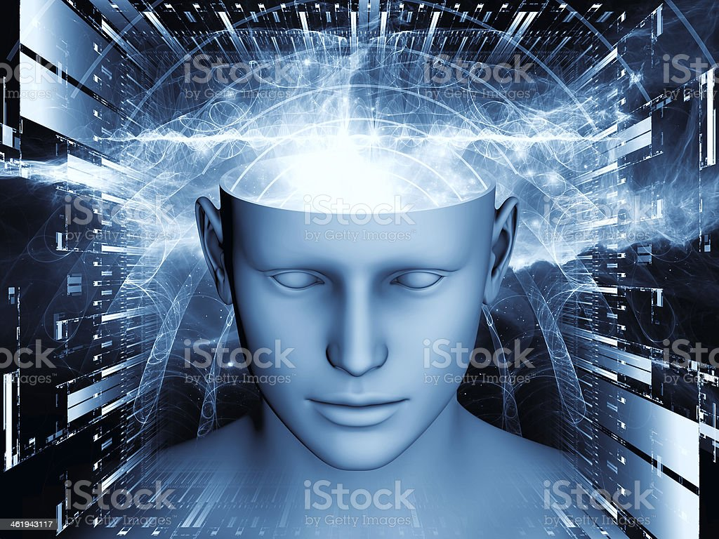 Synergies of the mind abstract graphic royalty-free stock photo
