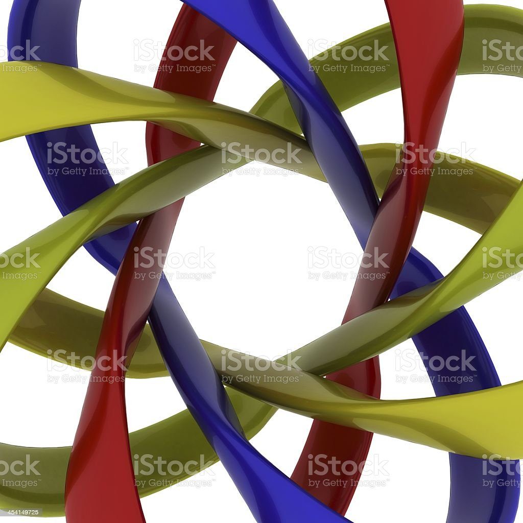 Synergy Abstract Objects Isolated on white background stock photo
