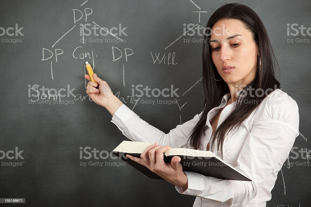 Syntactic analysis royalty-free stock photo