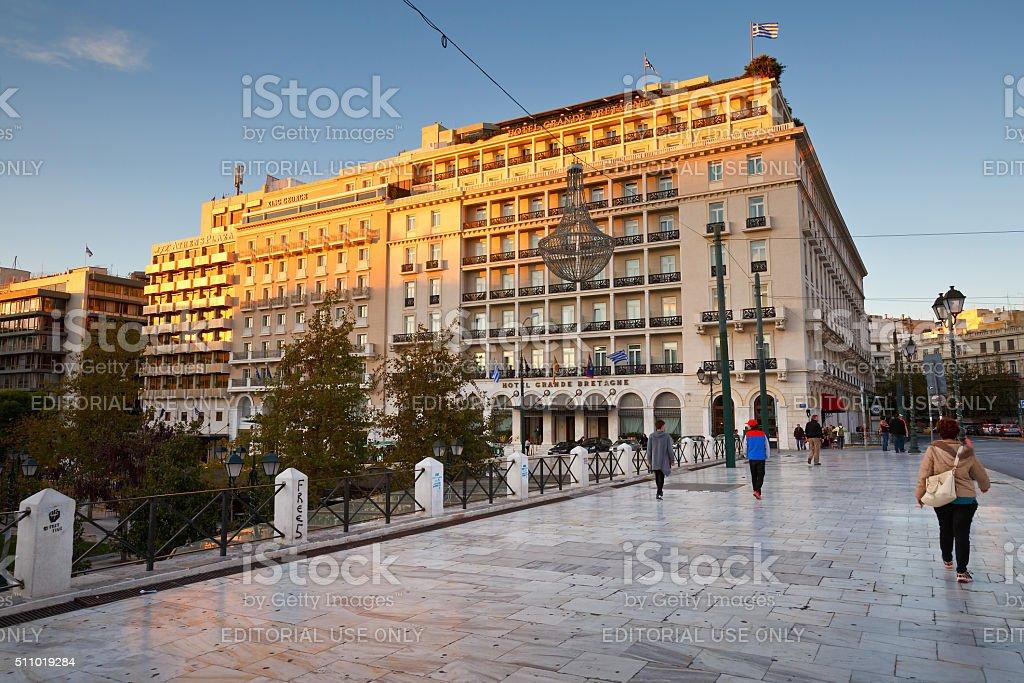 Syntagma sguare. stock photo