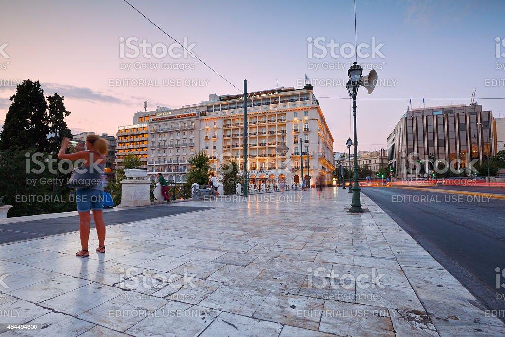 Syntagma square, Athens. stock photo