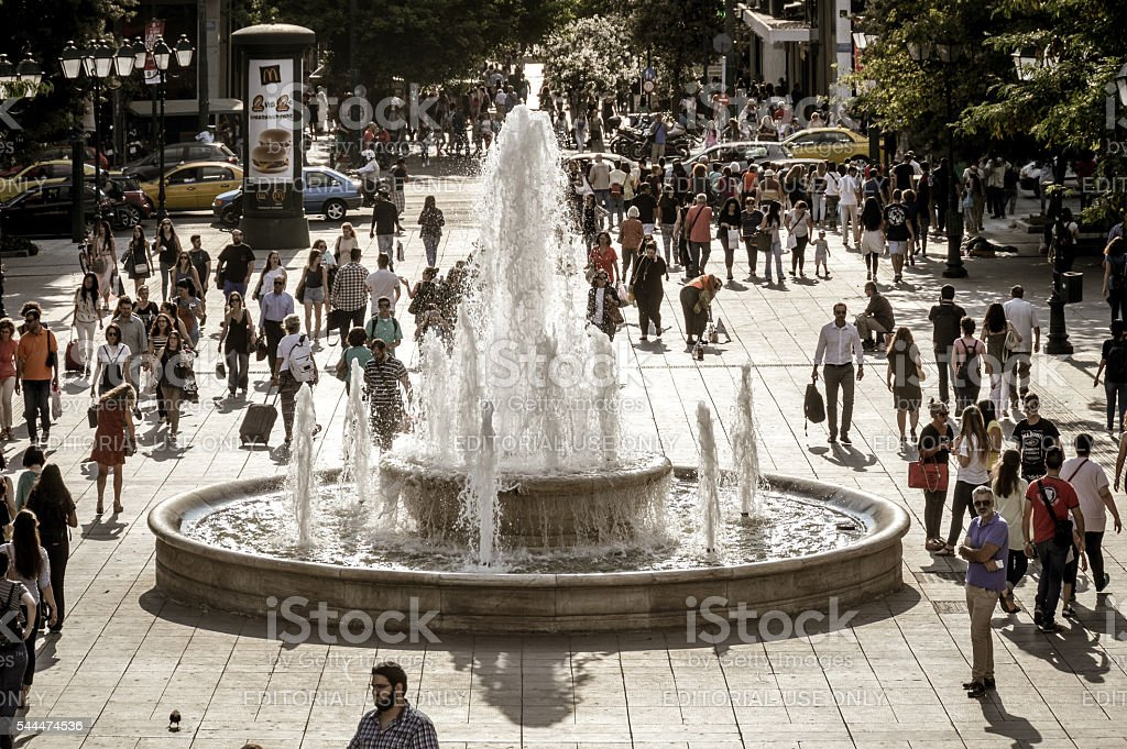 Syntagma Square in Athens, Greece stock photo