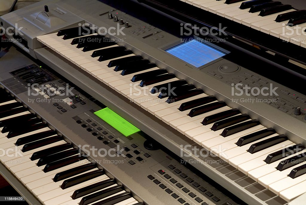 Synthesiser Keyboards royalty-free stock photo