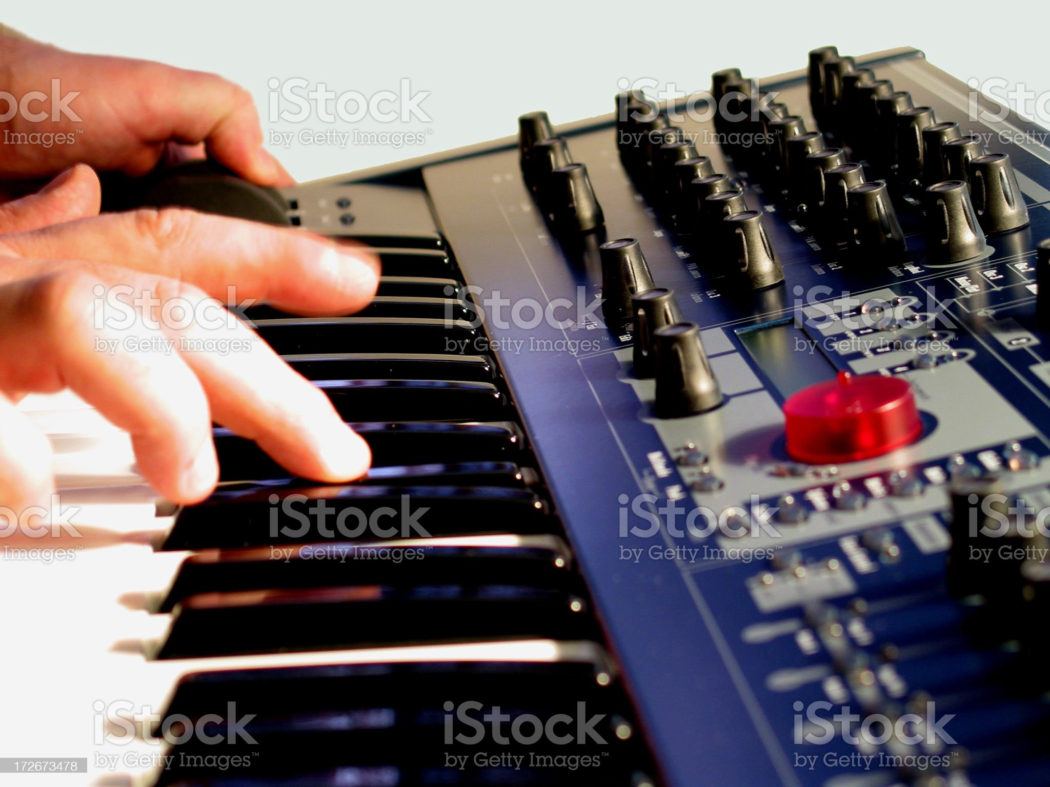 Synthesizer Being Played royalty-free stock photo