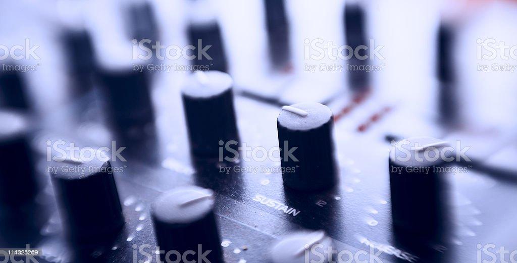 Synthesizer control panel stock photo