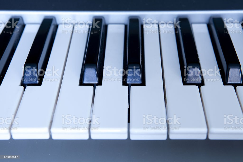Synthesizer Keys stock photo