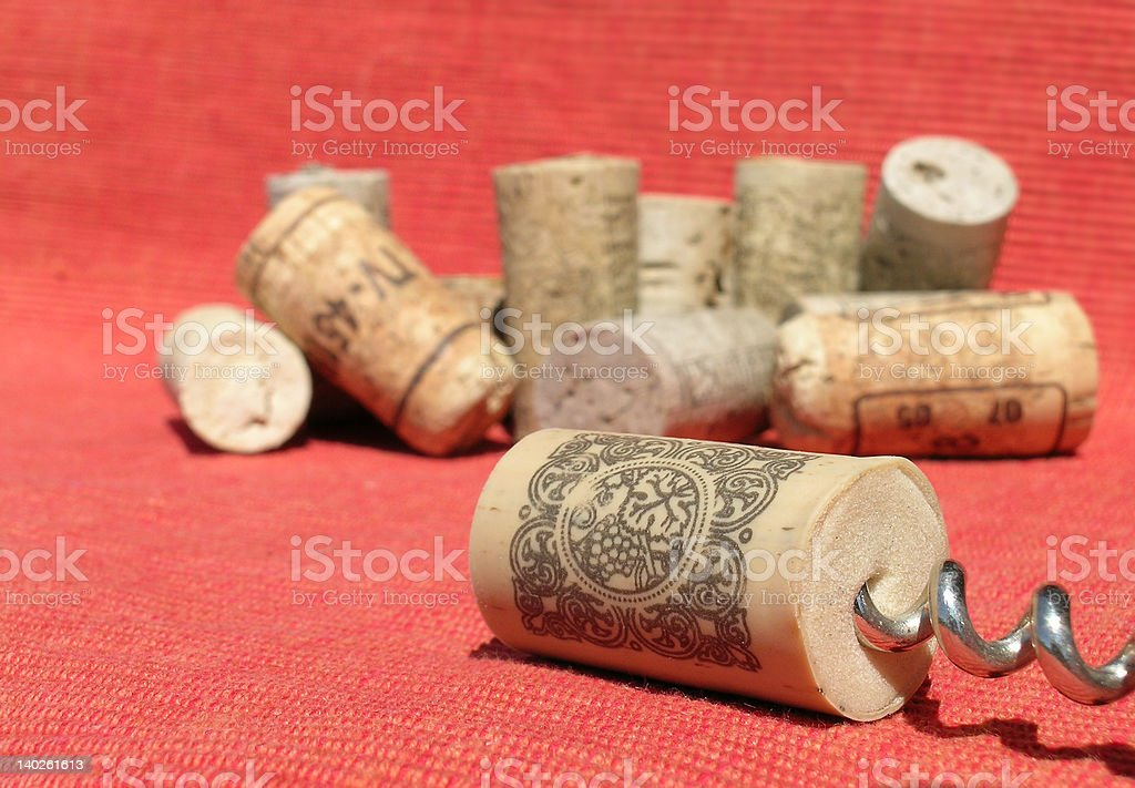 Synthetic cork royalty-free stock photo