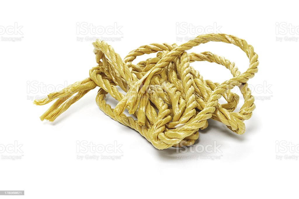 Synthetic Rope stock photo