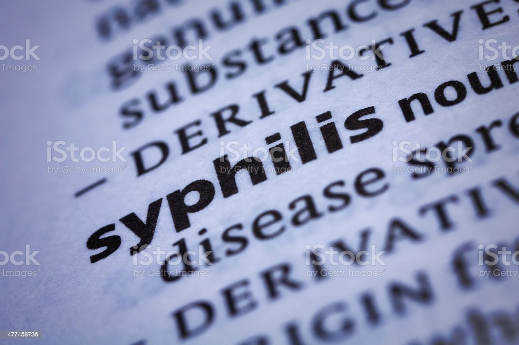 Syphilis: Dictionary Close-up stock photo