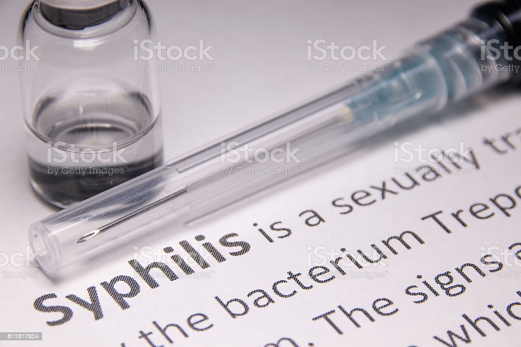 Syphilis stock photo