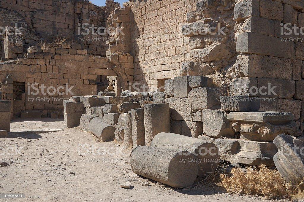 Syria, Bosra ancient city royalty-free stock photo