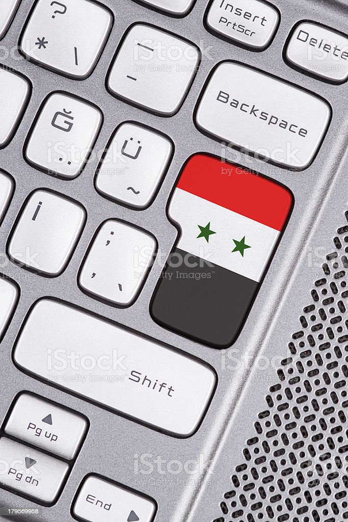 Syria flag button royalty-free stock photo